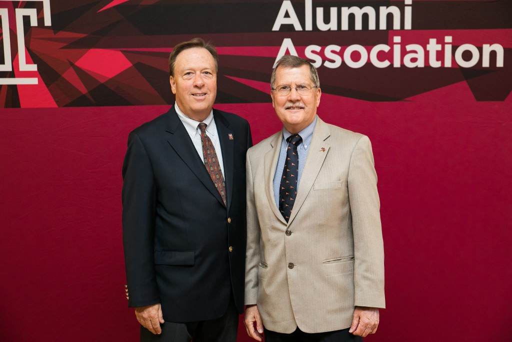 STHM alumnus Tom Shirley and Temple University President Richard Englert. (Photo courtesy Temple University Photography)